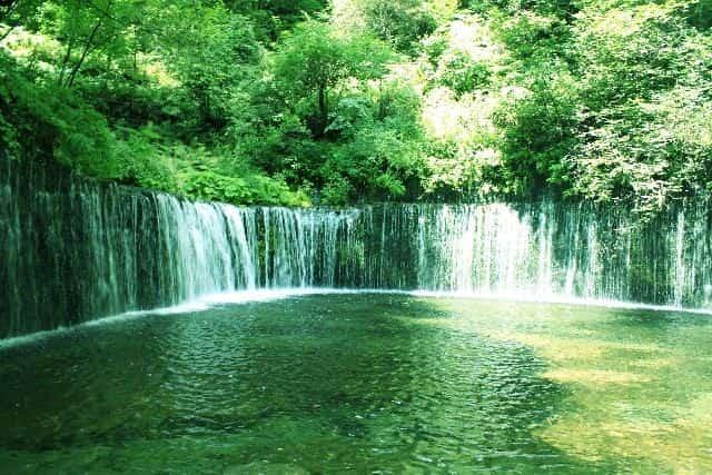 龍泉洞地底湖の水